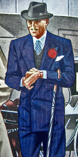 Illustration: Man in Blue Spring suit