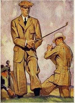 Golfing in spring linens